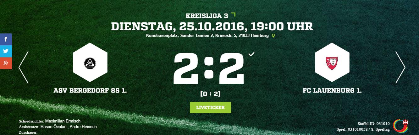 ASV Bergedorf 85 – FC Lauenburg