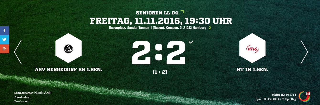 ASV Bergedorf 85 – HT 16