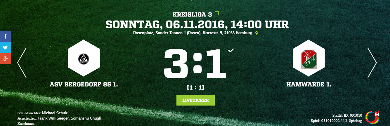 ASV Bergedorf 85 – SV Hamwarde