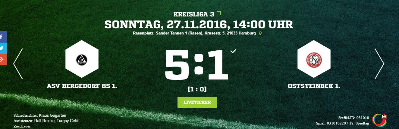 ASV Bergedorf 85 – Oststeinbeker SV