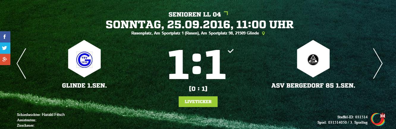 TSV Glinde – ASV Bergedorf 85