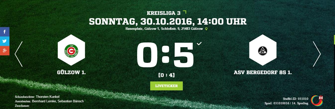 TSV Gülzow – ASV Bergedorf 85