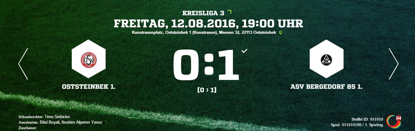 Oststeinbeker SV – ASV Bergedorf 85