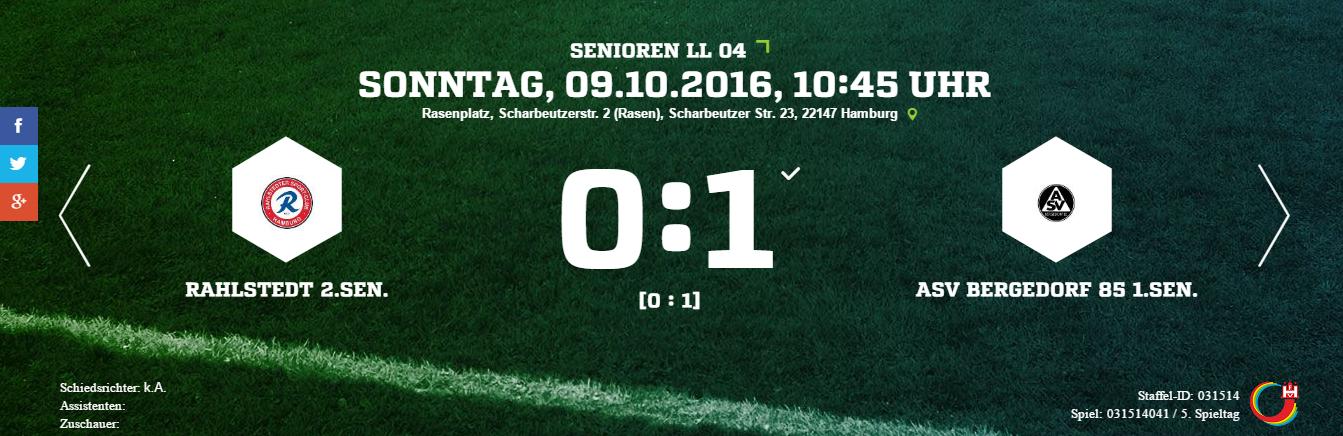 Rahlstedter SC – ASV Bergedorf 85