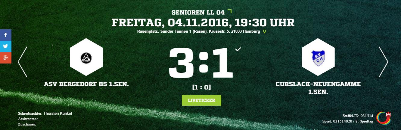 ASV Bergedorf 85 – SV Curslack-Neuengamme
